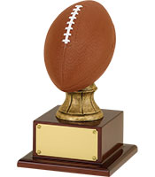 Silver Resin Football Trophy